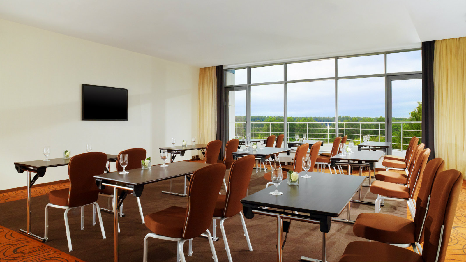 Conference room Vienna with forest view and private balcony at Sheraton Moscow Sheremetyevo