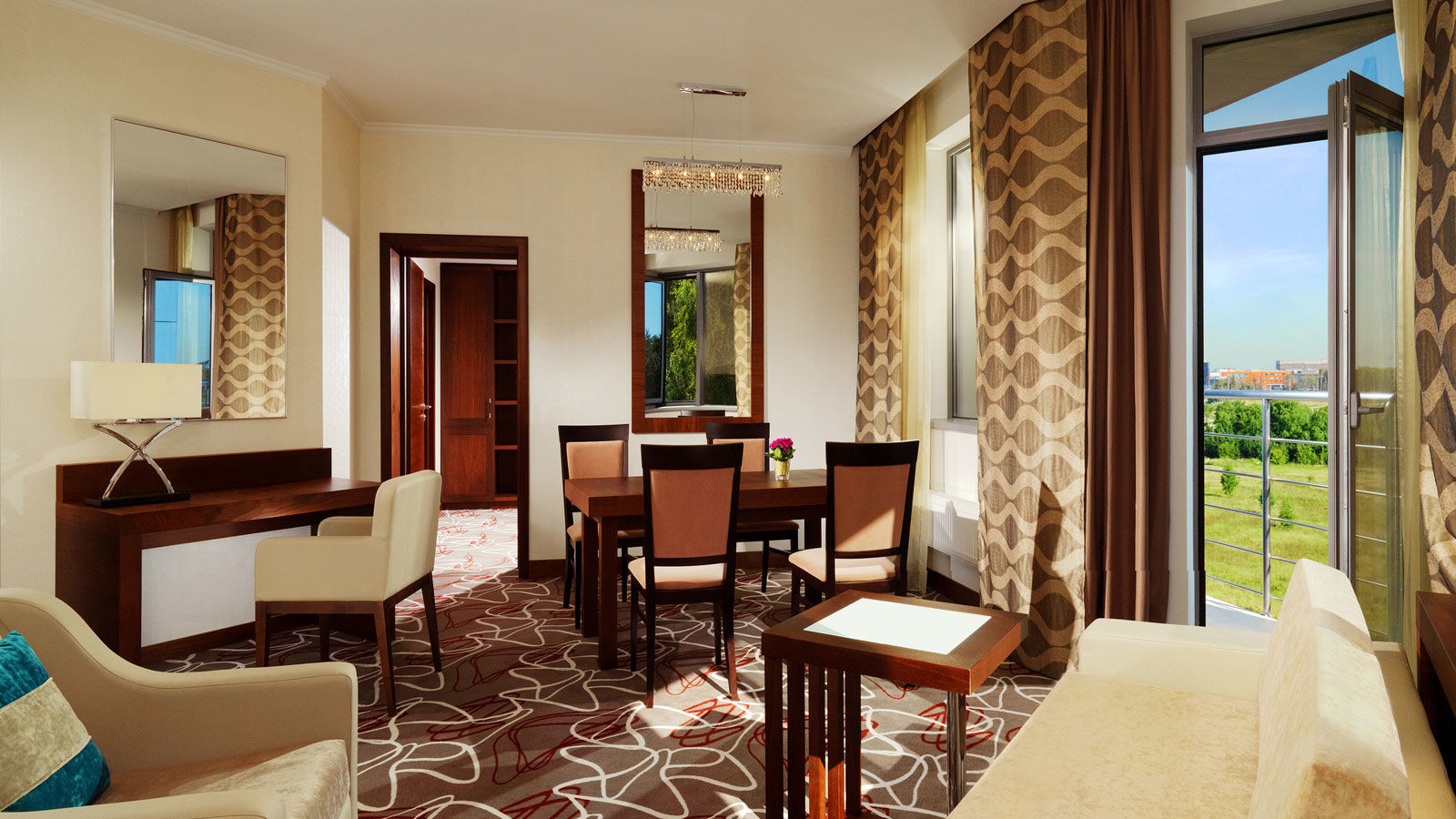 Corner Suite with a private balcony at Sheraton Moscow Sheremetyevo