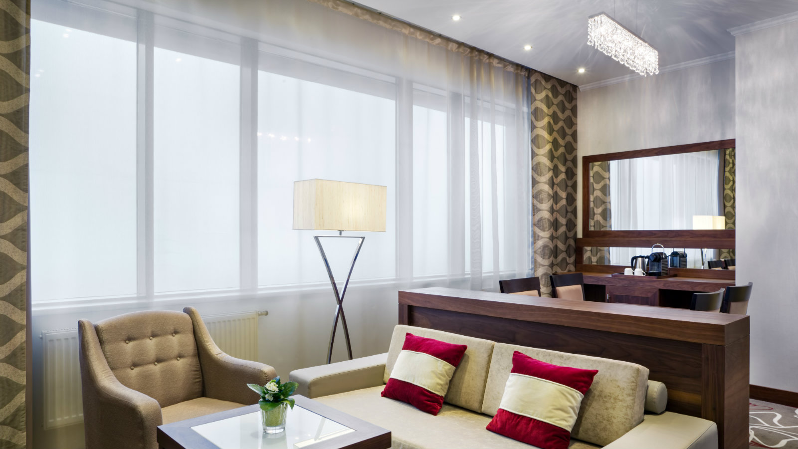 Cozy living room in Studio Suite at Sheraton Moscow Sheremetyevo