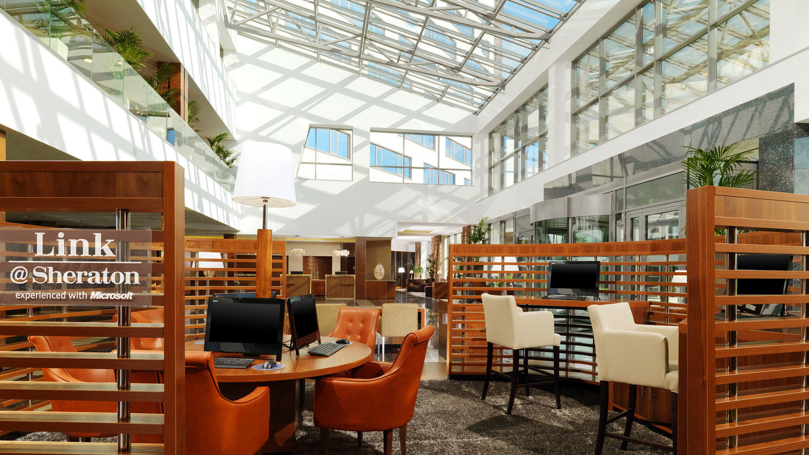 Link Sheraton cafe with up-to-date technologies at Sheraton Moscow Sheremetyevo