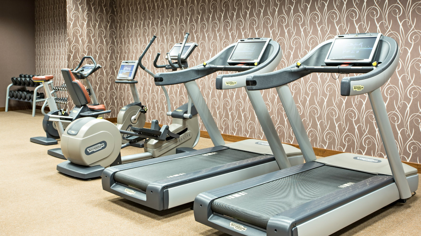 Sheraton Fitness gym with a state-of-the-art training equipment at Sheraton Moscow Sheremetyevo