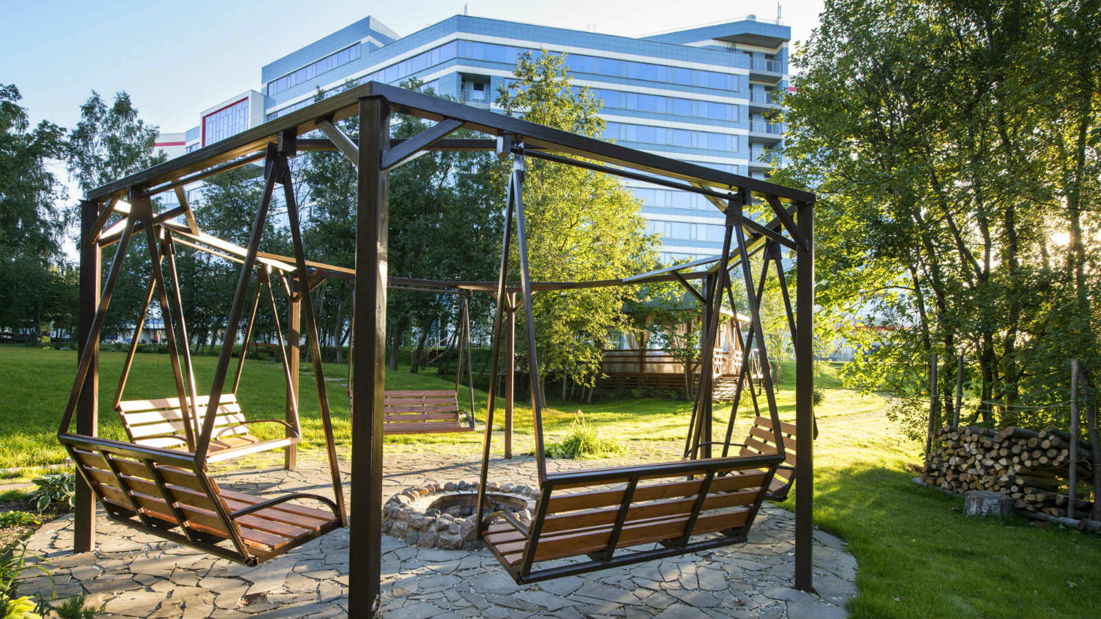 Summer swing on open air at Sheraton Moscow Sheremetyevo